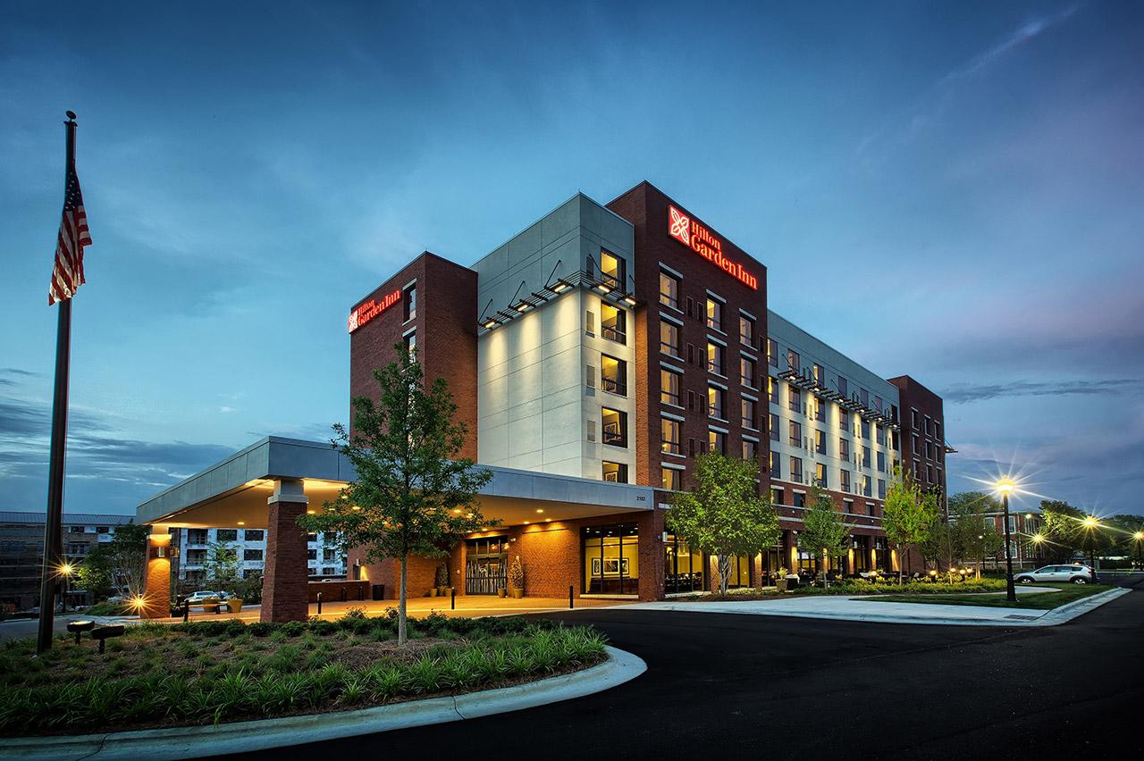 Hilton Garden Inn Exterior, Durham NC