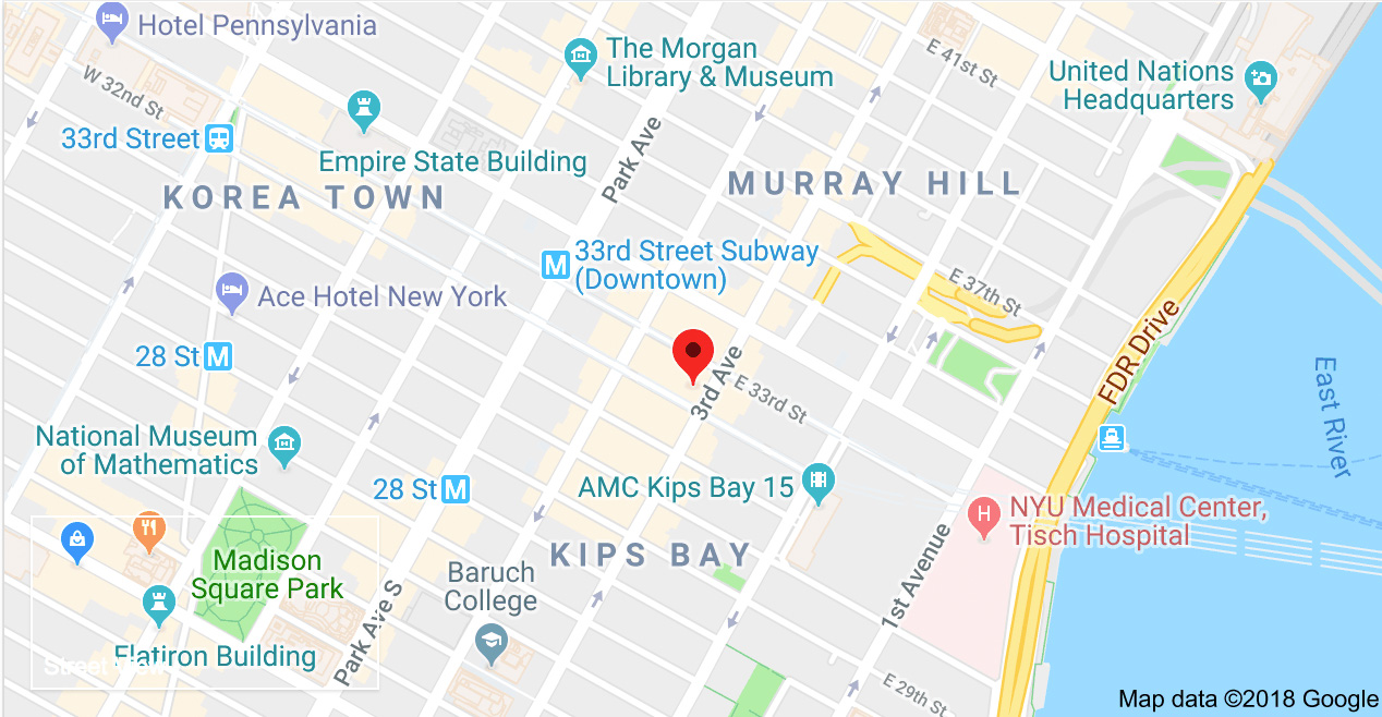 Map of 165 East 32nd Street New York, NY 10016
